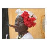 Cuba Cigar Lady Cards