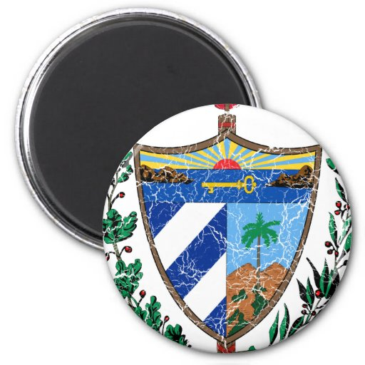 Cuba Coat Of Arms 2 Inch Round Magnet