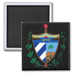 cuba coat of arms 2 inch square magnet