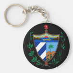 cuba coat of arms basic round button keychain