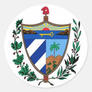 cuba coat of arms classic round sticker