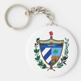 Cuba Coat of arms CU Basic Round Button Keychain