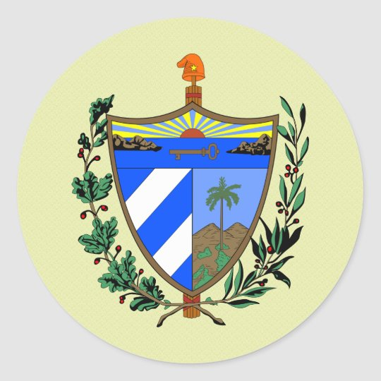 Cuba Coat of Arms detail Classic Round Sticker