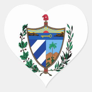 cuba coat of arms heart sticker