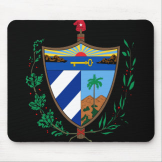 cuba coat of arms mouse pad