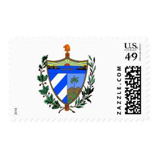 Cuba coat of arms stamp