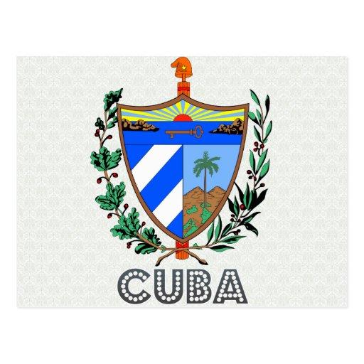 Cuba Coat of Arms Postcards