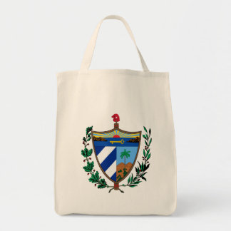 cuba coat of arms tote bag