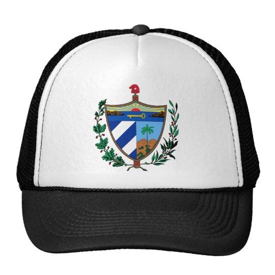 cuba coat of arms trucker hat