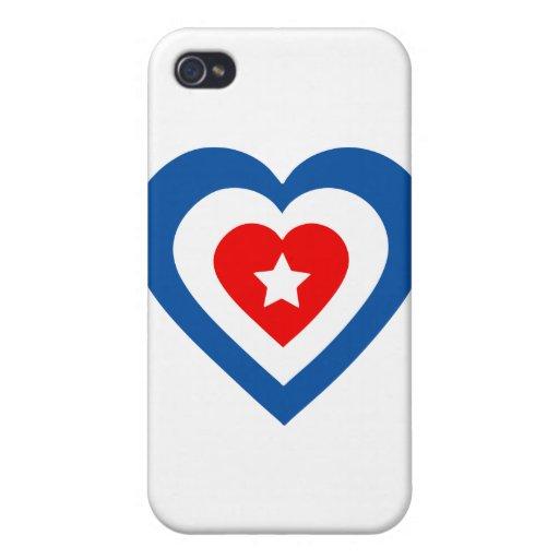 Cuba-corazón iPhone 4 Protector