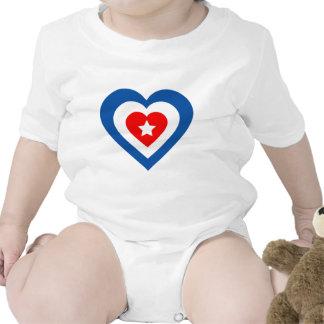 Cuba-corazón Traje De Bebé