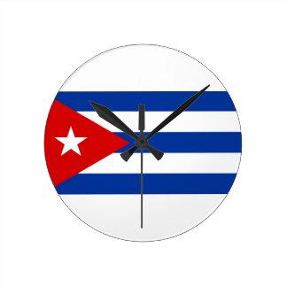cuba country flag clock