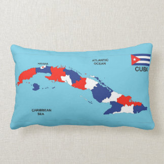 Cuba country political map flag throw pillow