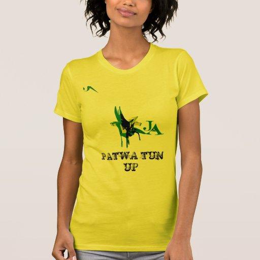 Cuba de Patwa encima de la camiseta de algodón