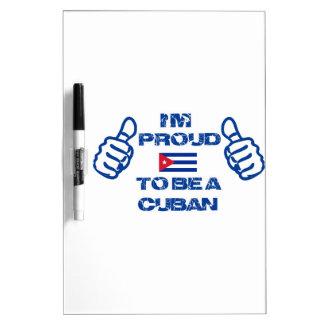 Cuba Design Dry Erase Board