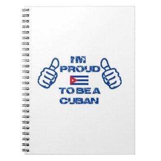 Cuba Design Spiral Notebook