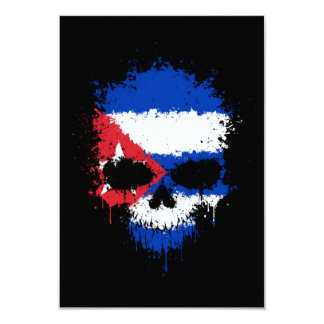 Cuba Dripping Splatter Skull Card