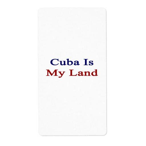 Cuba es mi tierra etiquetas de envío