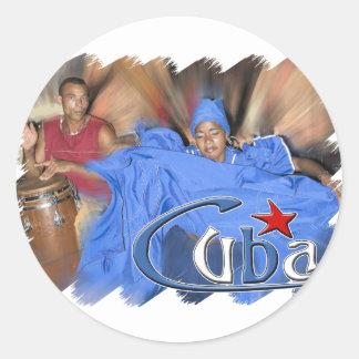 Cuba Etiqueta Redonda