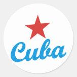 Cuba Etiquetas Redondas