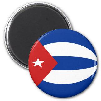 Cuba Fisheye Flag Magnet