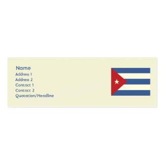 Cuba - flaca tarjetas de visita mini