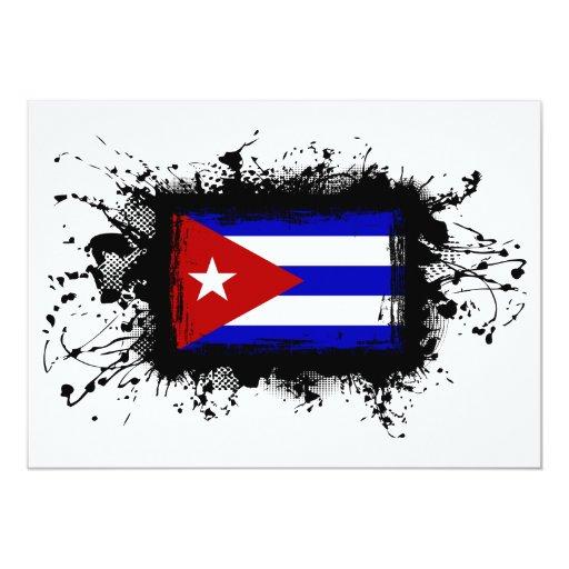 Cuba Flag 5x7 Paper Invitation Card