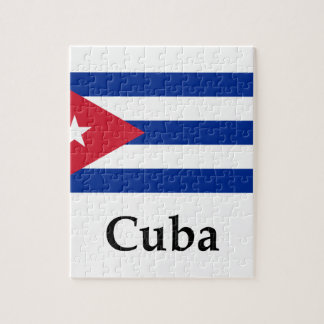 Cuba Flag And Name Puzzle