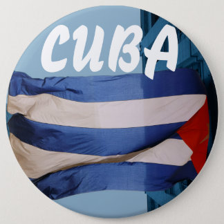 Cuba flag badge button