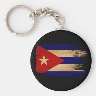 Cuba Flag Basic Round Button Keychain