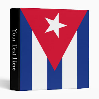 Cuba Flag Binder