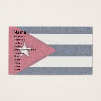 CUBA FLAG BUSINESS CARD
