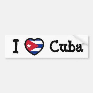 Cuba Flag Car Bumper Sticker