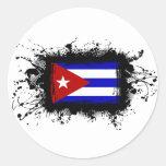 Cuba Flag Classic Round Sticker