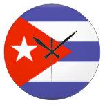 Cuba Flag Clock
