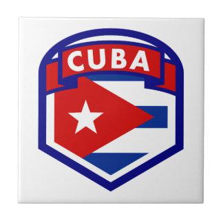 Cuba Flag Coat Of Arms Ceramic Tile