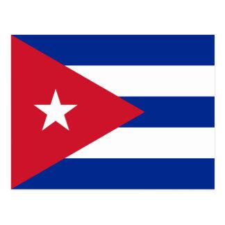 Cuba Flag CU Postcard