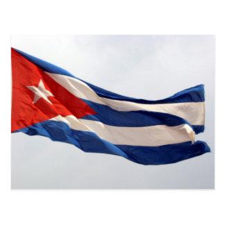 cuba flag flying postcard