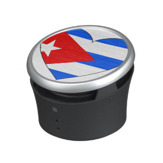 Cuba Flag Heart Bluetooth Speaker