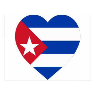 Cuba Flag Heart Postcard