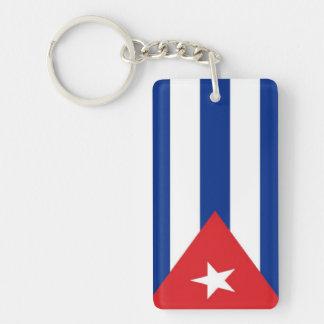 Cuba Flag Rectangular Acrylic Keychains
