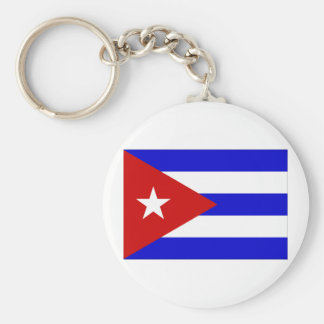 Cuba Flag Key Chain