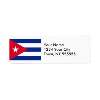 Cuba Flag Label
