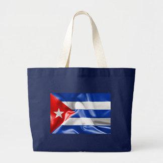 Cuba Flag Large Tote Bag