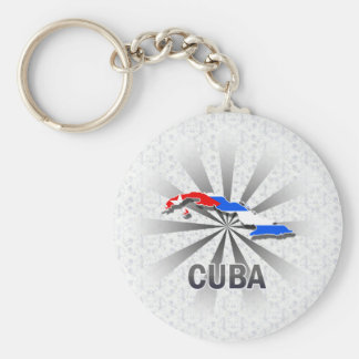 Cuba Flag Map 2.0 Key Chains