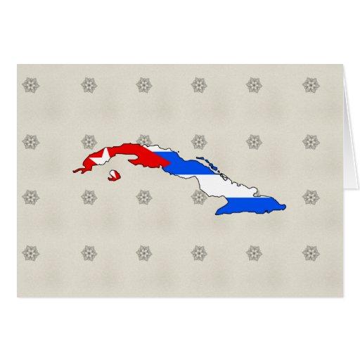 Cuba Flag Map full size Card