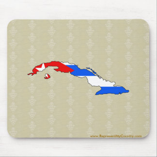 Cuba Flag Map full size Mouse Pad