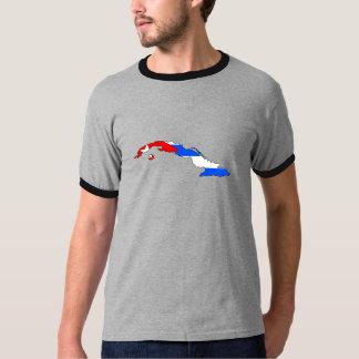 Cuba Flag Map full size Tee Shirt