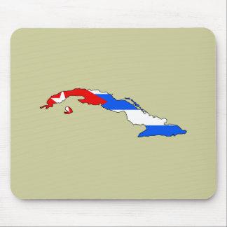 Cuba flag map mouse pad