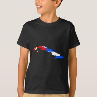 Cuba flag map T-Shirt